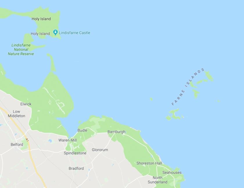 Farne Islands map 2