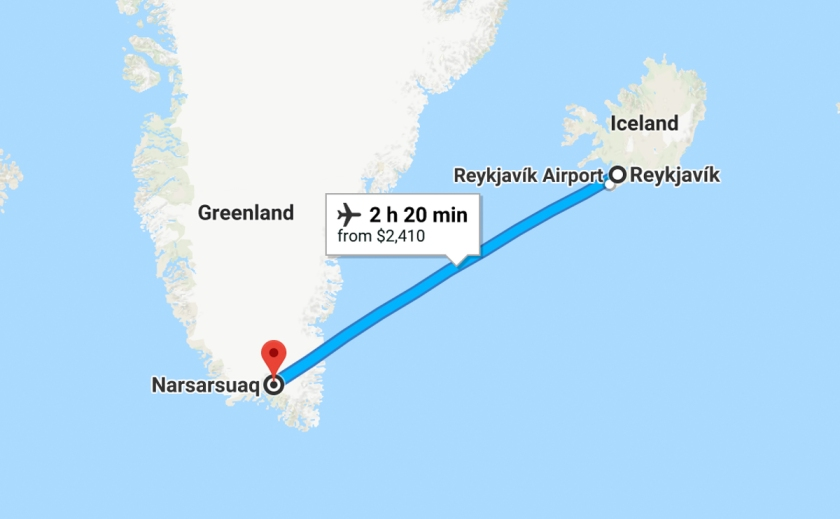 Iceland to Greenland